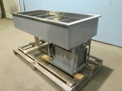 Heavy Duty Commercial Ss Refrigerated Drop-in 4 Pans Cold Wells Insert 115v 1andphi