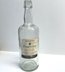 """Vintage Smirnoff Display Bottle With Tanqueray Gin Label • Large 18"""""""
