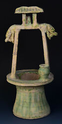 Han Dynasty, Antique Chinese Pottery Well With Dragon Heads