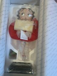 New, Open Box Danbury Mint Betty Boop Red Dress Porcelain Collector Doll
