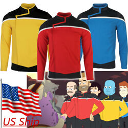 Lower Decks Captain Freeman Red Uniform Ensign Rutherford Yellow Blue Top Shirts