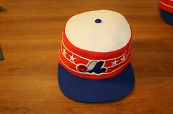 Vintage Montreal Expos Flat Top Conductor Baseball Cap Hat Beco
