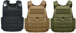 Tactical Plate Carrier Vest Modular Molle Black Coyote Grey Olive Rothco 8922