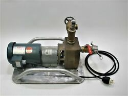Oberdorfer 75pb Centrifugal Water Pump 1-1/2 Leeson 2 Hp With Portable Bracket