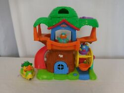 Playskool Weebles Wobble Musical Treehouse + Frog Duck Vehicle Scooter + Weeble