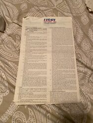 Ricky Sanders Houston Gamblers Usfl Autographed 1983 Full Contract Signed Twice