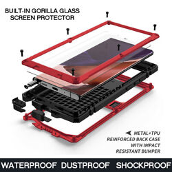 Screen Glass + Metal Shockproof Waterproof Case Cover For Samsung Note 20 S20