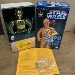 Star Wars C-3po Wind Up Tin Toys Action Figure Gold Vintage C3po New