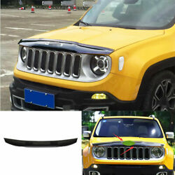 For Jeep Renegade 2019-2020 Abs Black Car Front Grille Grill Engine Hood Strip