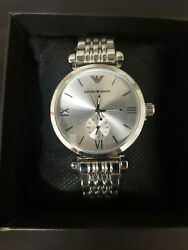 Emporio Armani AR1926 Women#x27;s Watch Stainless Silver Tone 32mm $35.99