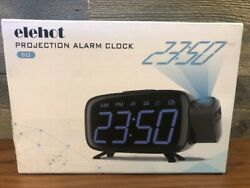 Projection Alarm Clock Radio and Alarm with USB Port for Phone Charging NEW