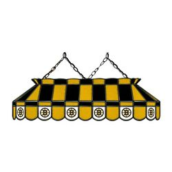 Nhl Boston Bruins Stained Glass 40 Pool Table Light - New - Made In U.s.a.