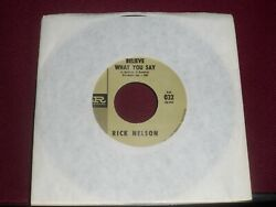 RICK NELSON quot;Believe What You Sayquot; Imperial Gold 032