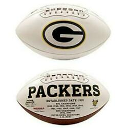 Green Bay Packers Embroidered Logo Signature Series Football