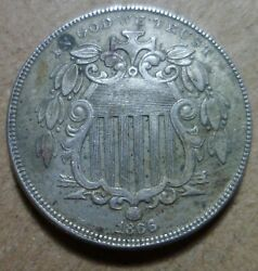 1866 Shield Nickel With Rays Ddr High Grade Estate Collector Coin 265