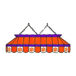Ncaa Clemson Tigers Stained Glass 40 Pool Table Light - New - Made In U.s.a.