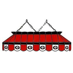 Ncaa Georgia Bulldogs Stained Glass 40 Pool Table Light - New - Made In U.s.a.