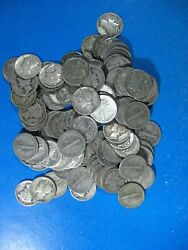 Mercury Dimes Mixed Dates 1930 To1939 Aprox 35 Mint Marked Roll Of 50 Dimes
