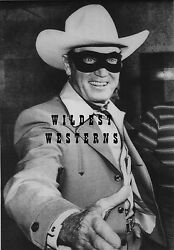 Clayton Moore Photo The Lone Ranger Wearing His Mask Rare Candid