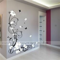 Wall Stickers Butterfly Flower Large Vinyl Removable Tree Art Decals Mural Home