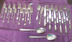 27 Pc 6 Place Setting Sterling Silver Set Hunt Club 1930 2 Serving Spoons Sugar
