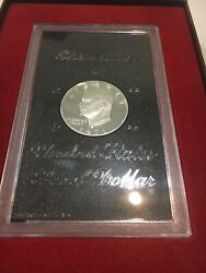 1971 U.s. Silver Eisenhower Dollar Frosty Proof In Box And Sealed In Holder