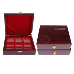 3x Wooden Coin Box Storage Coin Collection Case For 30pcs Coins 46mm Holder