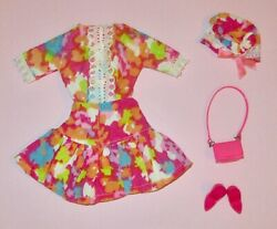 Japanese Exclusive Barbie Abstract Floral Print Outfit