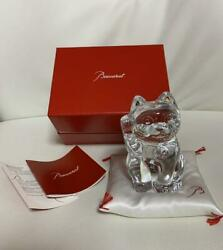 Baccarat Japanese Ornament [beckoning Cat] Clearc Lucky Charm In Japan Jp