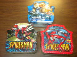 3 Spider-man Fantastic Four Puzzles Sealed Box 2005 Roseart 100 Pieces 16x11 Lot