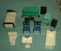 Lot Buy Of Vintage Ideal Doll House Furniture=free Ship