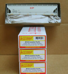 Accurail 8126 Ho Kit, 3 Pak Cpr 3-bay Acf Covered Hoppers W/red Cp Letters