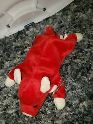 Ty Beanie Baby Snort Bull Rare Multiple Tag Errors Pvc No Stamp
