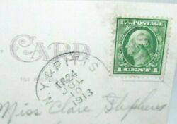 1913 George Washington One Cent Stamp On Postcard Ny And Pittsburgh Cancel