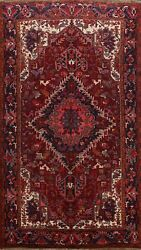 Vintage Geometric Heriz Hand-knotted Area Rug Dining Room Oriental Carpet 8and039x11and039