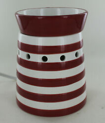 Scentsy Full Size Warmer Candy Shoppe Red amp; White Stripes