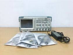 Tektronix Tps2024 200mhz 4ch Oscilloscope With An Adapter And P6200 Probes