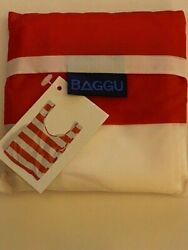 Baggu Standard Size Red Stripe Reusable Bag Discontinued Pattern New