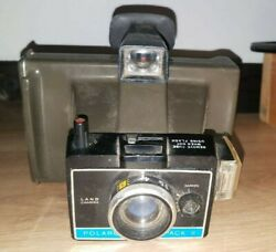 Vintage 1969 Polaroid Colorpack Ii Land Camera With Strap
