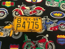 1955texas Motorcycle License Plate 8p4775