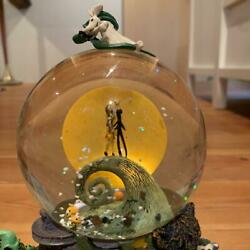 Disney Nightmare Before Christmas Snow Globe With Music Box Made In Japan 233/af
