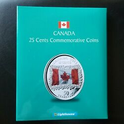 1967-2017 25 Cent Commemorative Canadian Quarter Set With Lighthouse Coin Book