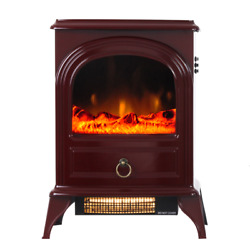 22''portable Electric Fireplace Heater Stove Realistic Flame,1500w Free Standing