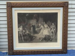 Large Antique Carved Wooden Frames 46 X 40 1/2 W Shakespeare And Schiller Prints