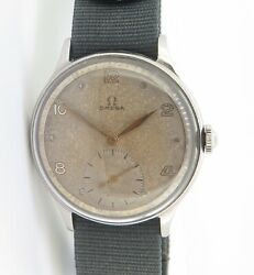 .vintage 1947 Italian Delivered Omega Steel Sub Second Cal 30 T2 Watch Ref 2317