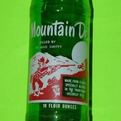 Mountain Dew Hillbilly Filled By Irv And Smitty Vtg Acl Pepsi Bottle Rare Soda