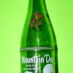 Mountain Dew Hillbilly Filled By Gene And Fredia Vtg Acl Pepsi Bottle Red Face