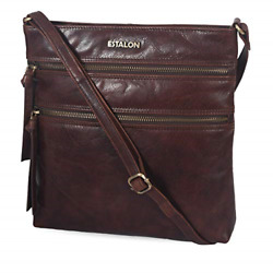 Leather Small Crossbody Over the Shoulder Sling Purse for WomenCaramel $50.63