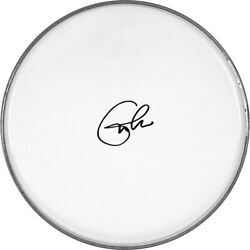 Eric Clapton Autographed Signed 12 Inch Clear Drumhead Drum Head