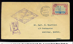 1928 U.s. To Canada Airmail Dual Sided And Dual Stamped Cover Stock C11-z98